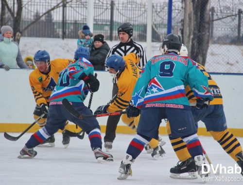 Впервые в чемпионате ЕАО по хоккею с шайбой приняла участие команда из Амурской области