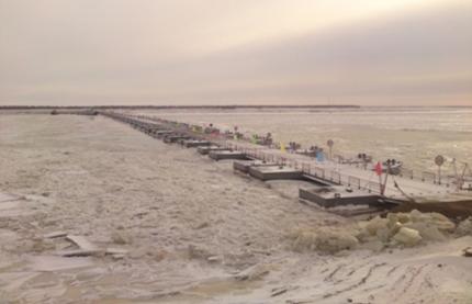 В Амурзете открылась международная ледовая переправа через Амур