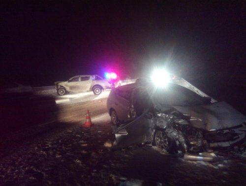 Две дорожные аварии произошли на федеральной трассе из-за снегопада за последние сутки