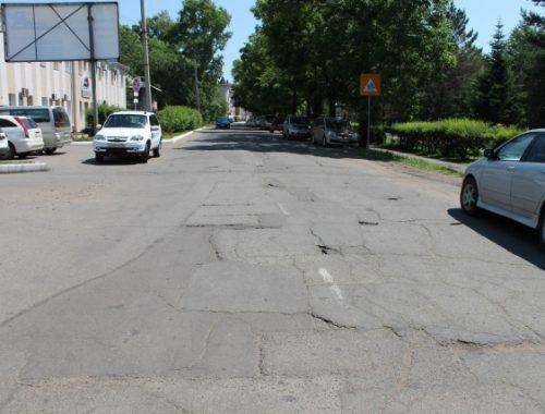 «Фронтовики» осмотрели отремонтированные участки в Биробиджане, отмеченные на карте «убитых» дорог