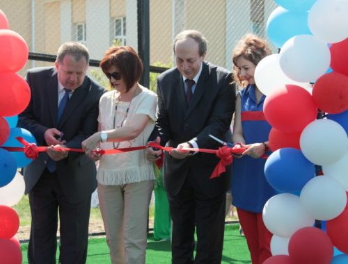 Александр Левинталь торжественно открыл спортплощадку в Птичнике