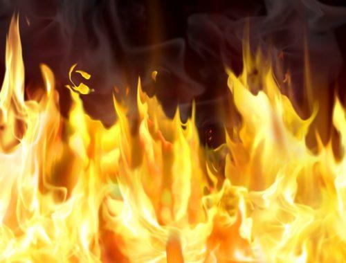 Пламя огня охватило продовольственный магазин в Биробиджане