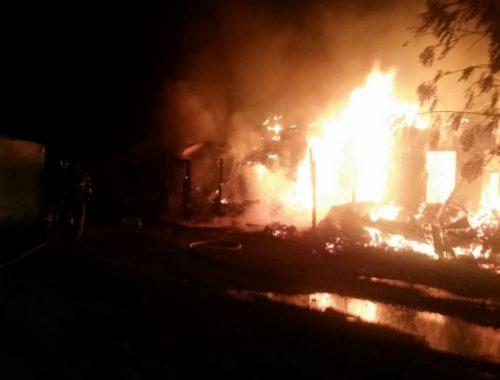 Пожар в Биробиджане