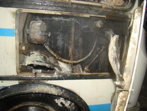 Прокуратура: вина перевозчика в возгорании автобуса не установлена