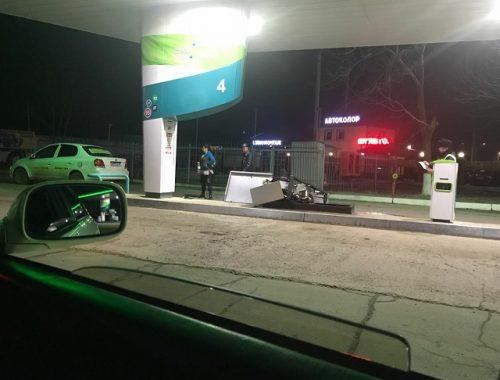 Автоледи не вытащила «пистолет» и повредила автозаправку