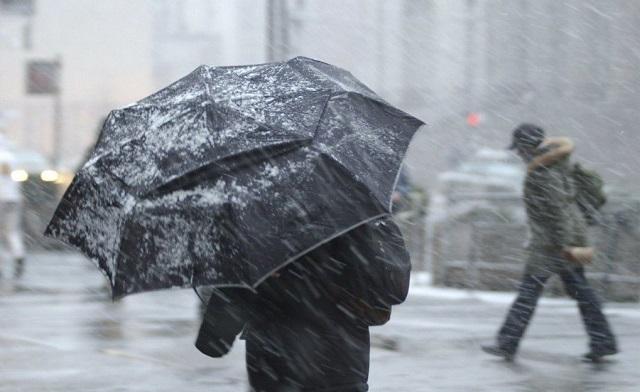 Завтра ожидается сильный ветер и мокрый снег