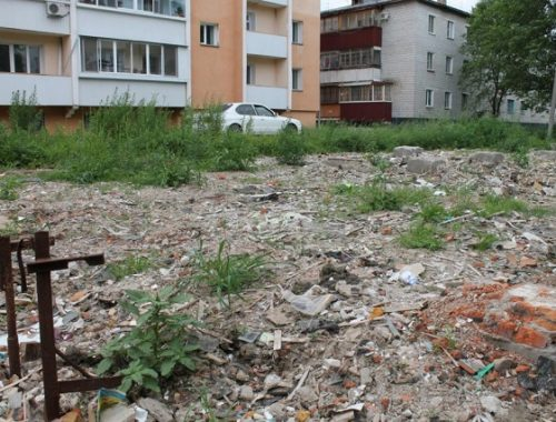 В мэрии Биробиджана обязались очистить заросшую строительным мусором территорию