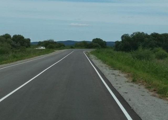 Два года ушло на ремонт выезда к федеральной трассе из п. им. Тельмана
