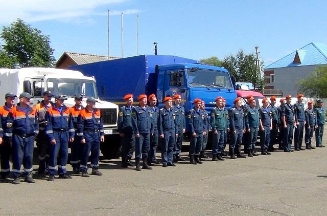 Аэромобильная группировка спасателей ЕАО выехала в Ленинский район