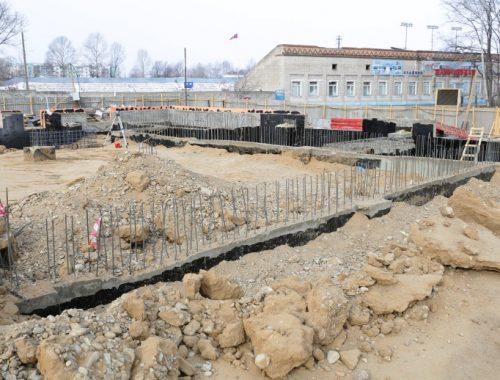 Завершен первый этап строительства крытого катка в Биробиджане