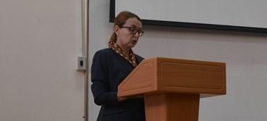 Ректор ПГУ Наталья Баженова выступила с отчетом о работе перед коллективом вуза