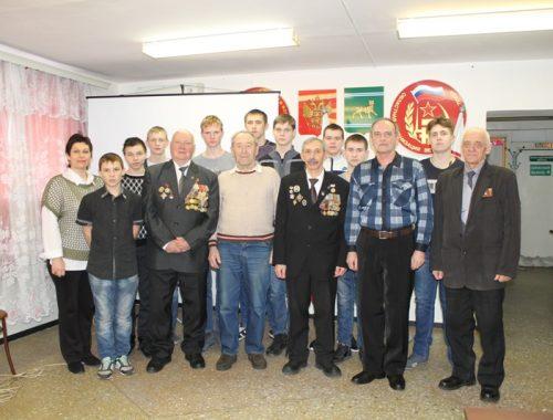 «Урок мужества» провели ветераны МВД для студентов политехнического техникума