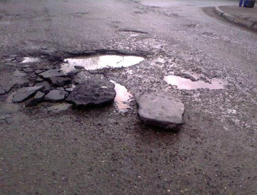 Допустимые размеры ям на дорогах определило МВД