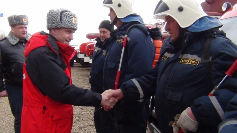 Замглавы МЧС России Владлен Аксенов проверил готовность ЕАО к борьбе с лесными пожарами