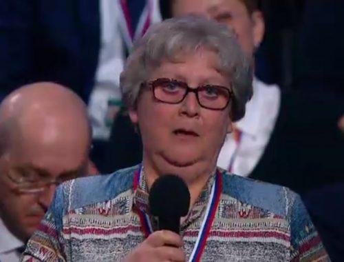 МОЛНИЯ: Журналист из Биробиджана Елена Голубь рассказала президенту России о проблемах здравоохранения ЕАО