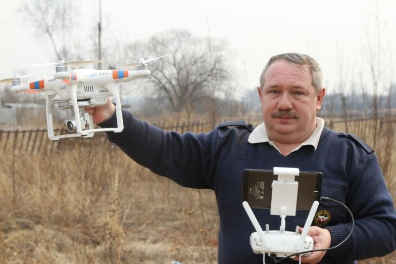 Спасатели ЕАО проводят мониторинг пожарной обстановки при помощи дронов
