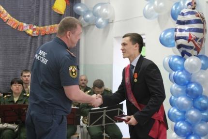 Биробиджанский школьник награжден медалью МЧС «За содружество во имя спасения»