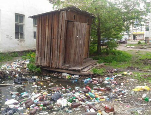 «УЖАС» седьмой: Общественный туалет оброс мусором