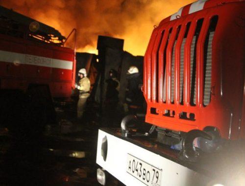 Асфальтобетонный завод в Биробиджане уберегли от крупного пожара