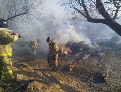 Из-за сухой неокошенной травы чуть не сгорели дачные дома