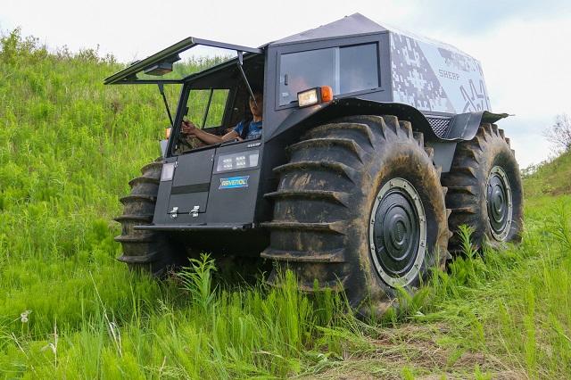 В Биробиджане пройдет бесплатный тест-драйв российского вездехода «Шерп»