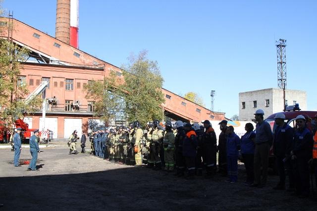 На Биробиджанской ТЭЦ прошло пожарно-тактическое учение