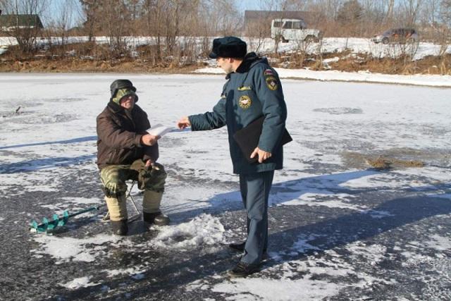 Первый этап акции «Безопасный лед» завершен спасателями ЕАО