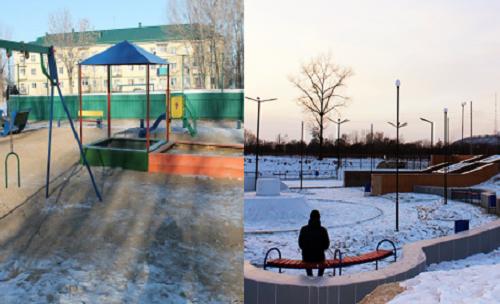 Детская площадка из старья и разваливающийся скейтпарк: единороссы ЕАО отчитались об успехах партийных проектов