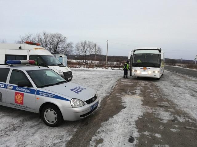 Рейды по проверкам пассажирских перевозок проходят в ЕАО