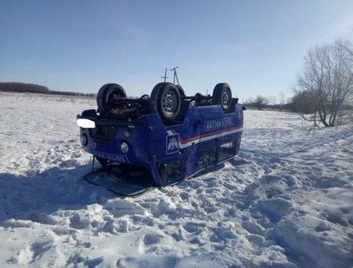 Автомобиль «Почта России» опрокинулся в ЕАО