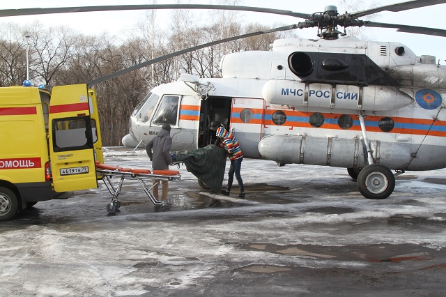 Вертолеты санавиации совершили девять вылетов из ЕАО за 2019 год
