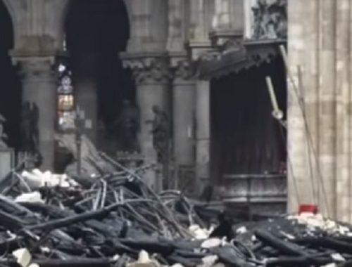 Названа вероятная причина пожара в Нотр-Даме