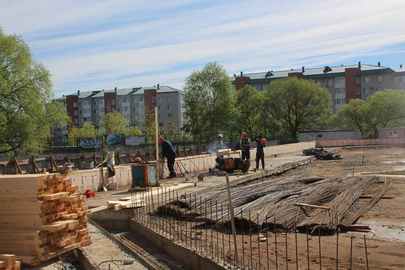 Первый этап строительства крытого катка завершился в Биробиджане