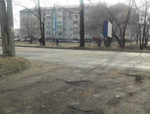 Дорожные работы на ул. Советской буксуют