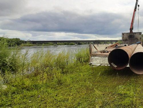 Вода не уходит: на окраине Биробиджана устанавливают мощную насосную станцию