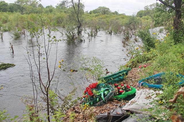 Наводнение не «пощадило» кладбище в Биробиджанском районе