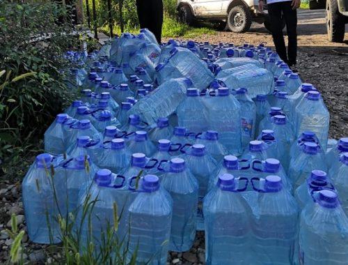 Мэрия утвердила дополнительный график подвоза воды в подтопленные районы Биробиджана