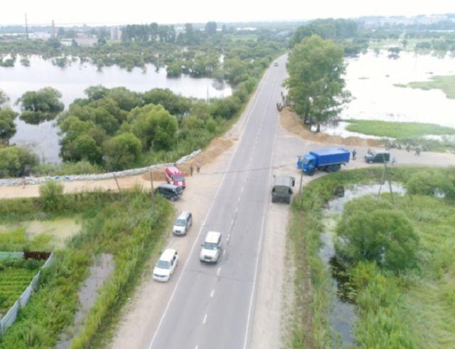В Ленинском районе частично перекрыты дороги из-за подтопления