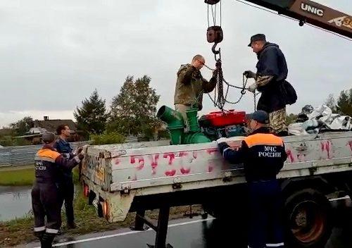 Для борьбы с паводком в ЕАО из Китая доставили насосные станции