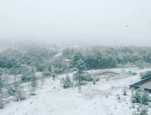 Зима неожиданно пришла в Облученский район ЕАО
