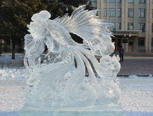 Определился победитель конкурса ледовых скульптур в Биробиджане