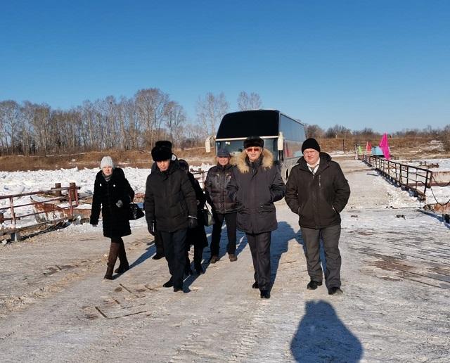 Понтонная переправа заработала в селе Амурзет ЕАО