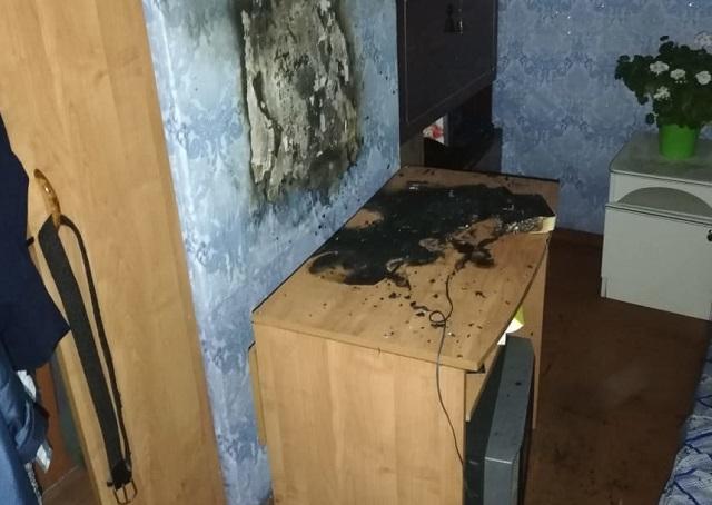 Телевизор вспыхнул в квартире биробиджанца