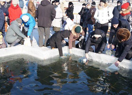 В Биробиджане отметили Крещение Господне