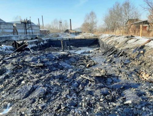 В Биробиджане ликвидируют опасную битумную яму