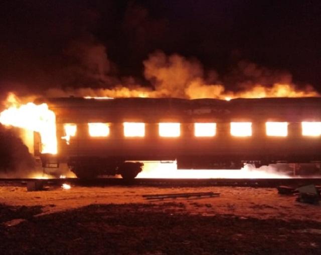 Пять часов пожарные боролись с огнем на станции Ин в ЕАО