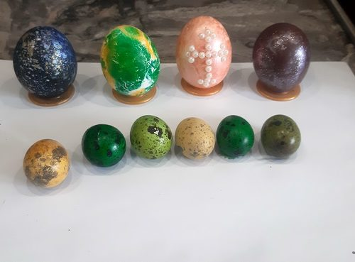 Идеями оформления пасхальных яиц поделилась читательница «@»