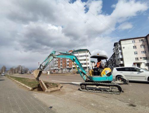 Начался ремонт автодороги по ул. 40 лет Победы в Биробиджане