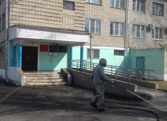 Дезинфекция всех общественных мест проводится в Октябрьском районе ЕАО