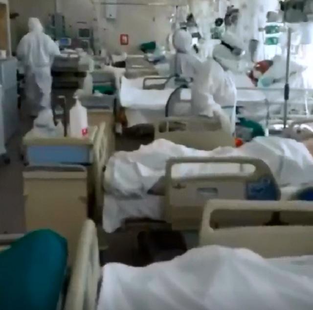 Главный врач показал видео из коронавирусной реанимации в Москве